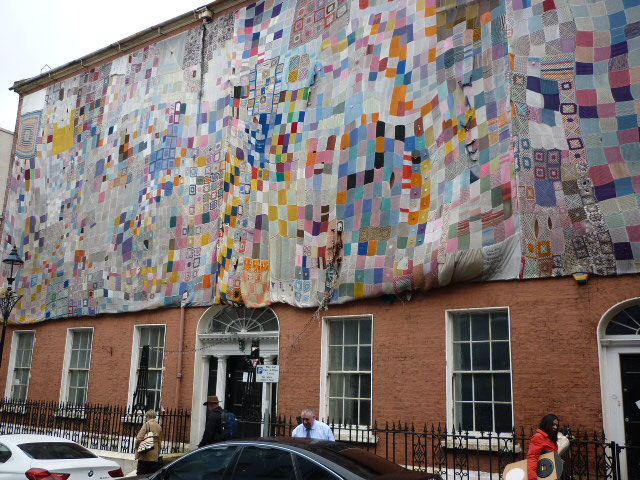 Knitted Graffiti in Derry/Londonderry - H Crawford/CrawCrafts Beasties