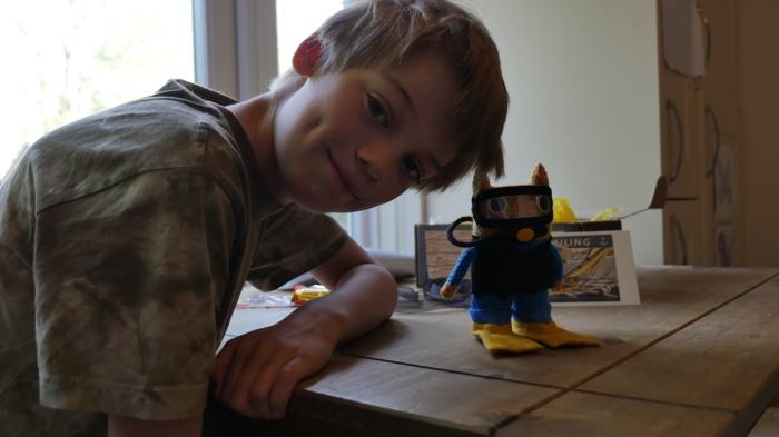 Diver Beastie and the Cap'n - FocalHeart/CrawCrafts Beasties