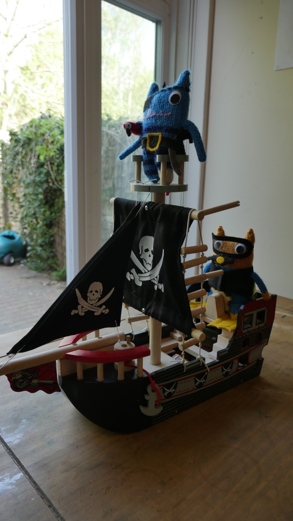 Pirate Beastie and Crew Sail Off in Search of Adventure - FocalHeart/CrawCrafts Beasties