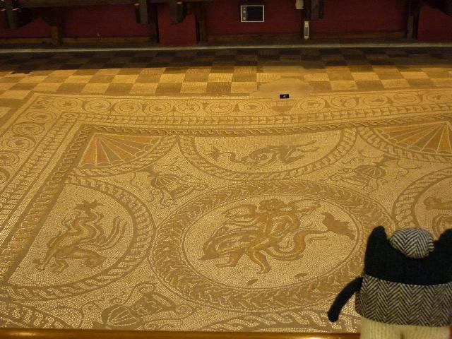 Plunkett Appreciating the Mosaics at Fishbourne - H Crawford/CrawCrafts Beasties