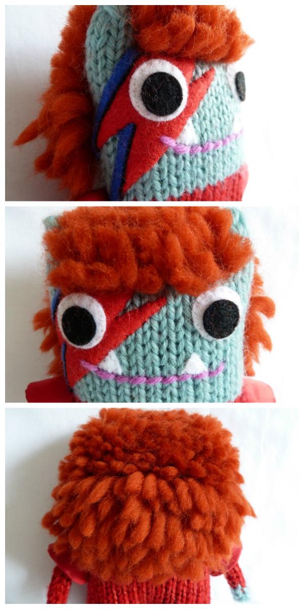 David Bowie Beastie's Hair - CrawCrafts Beasties