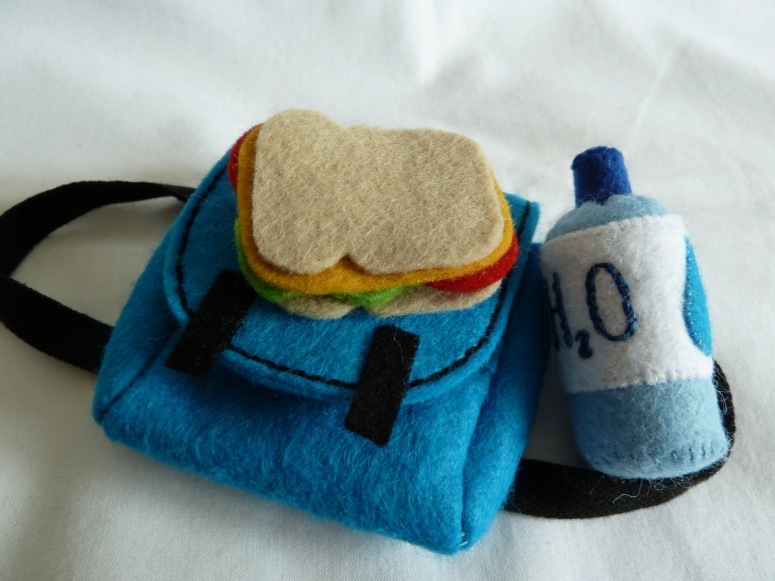 Beastie Backpack Contents, handmade by CrawCrafts Beasties