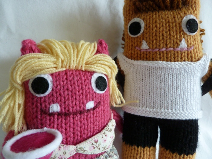 A Closeup of the Happy Couple - CrawCrafts Beasties
