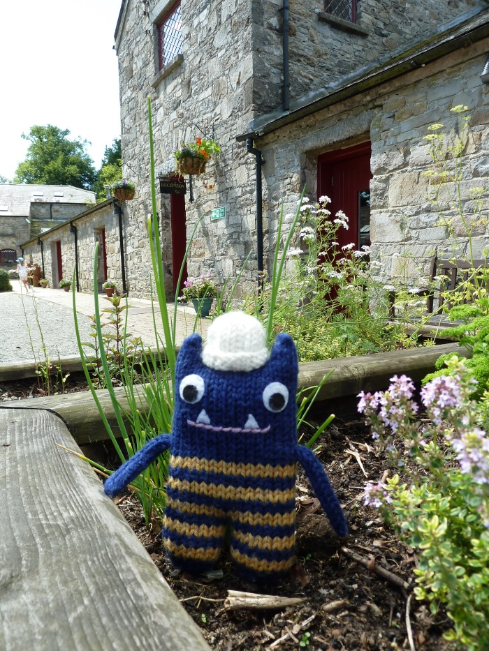 Explorer Beastie Hanging Out in the Courtyard - CrawCrafts Beasties