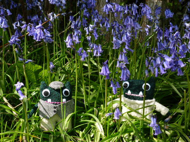 Paddy, Plunkett and some late Bluebells - H Crawford/CrawCrafts Beasties