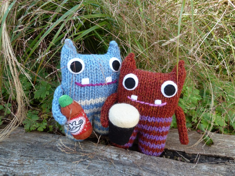 Red Lemonade Beastie and Pint Beastie - CrawCrafts Beasties