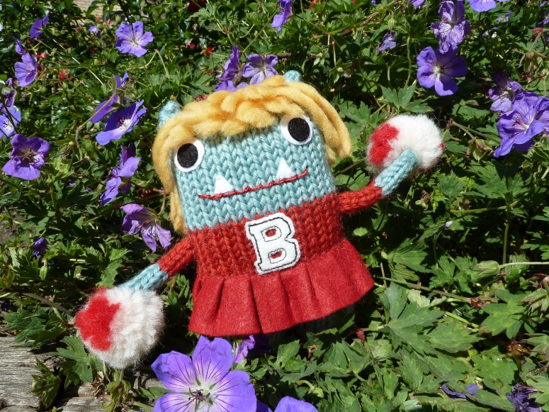 Cheerleader Beastie, by CrawCrafts Beasties
