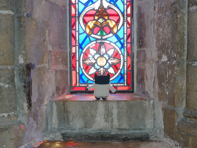 Paddy Admires the Stained Glass Windows - H Crawford/CrawCrafts Beasties