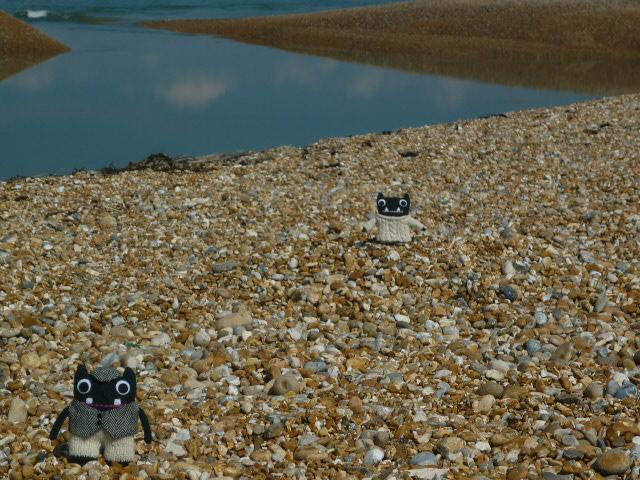 Paddy and Plunkett on the Beach - H Crawford/CrawCrafts Beasties