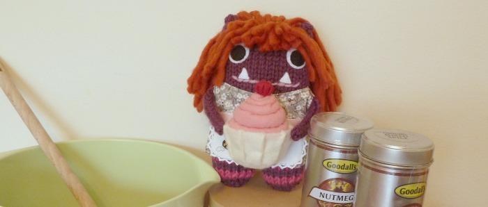 Baker Girl Beastie in the Kitchen- CrawCrafts Beasties