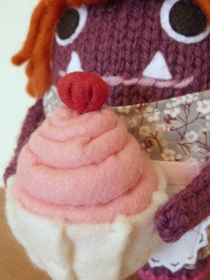 Baker Girl Beastie's Cupcake, by CrawCrafts Beasties