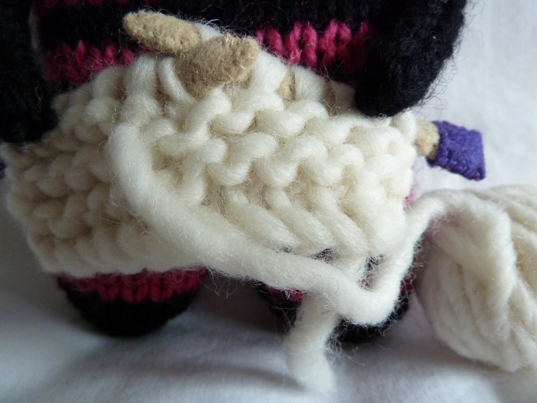 Knitter Beastie's Latest Project - CrawCrafts Beasties
