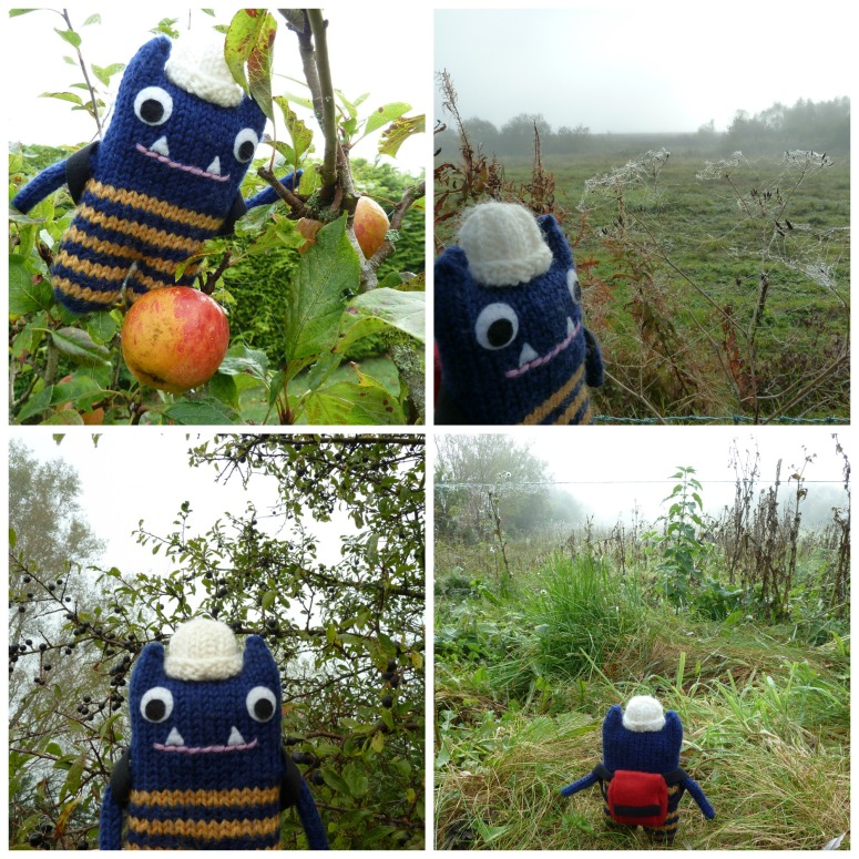 Autumn Days with Explorer Beastie - CrawCrafts Beasties