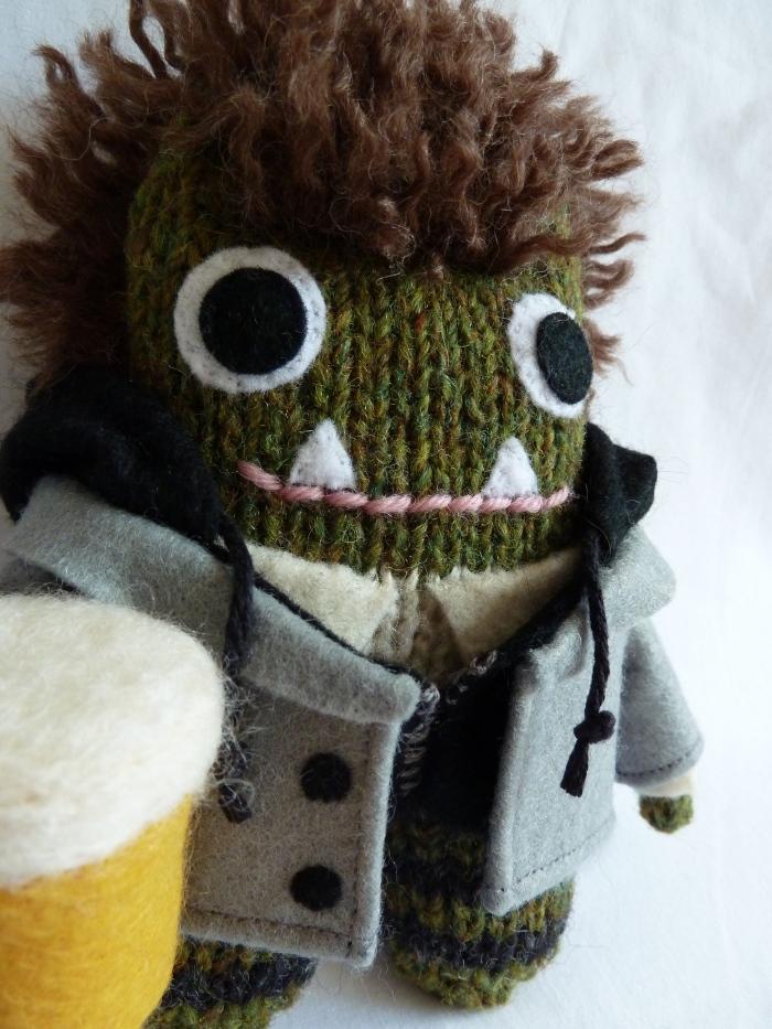 A Green Irish Monster - Obviously! CrawCrafts Beasties