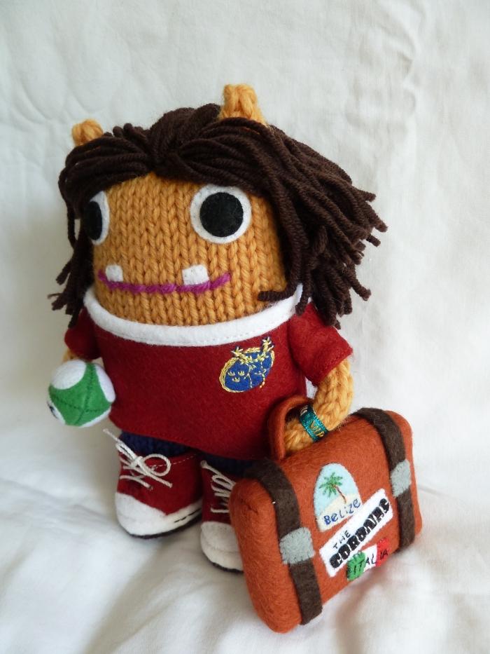 Rugby Girl Beastie Hits the Road! CrawCrafts Beasties