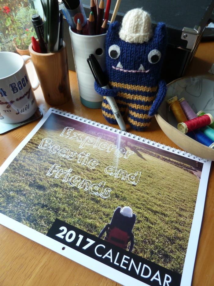 It's the 2017 Beastie Calendar! CrawCrafts Beasties