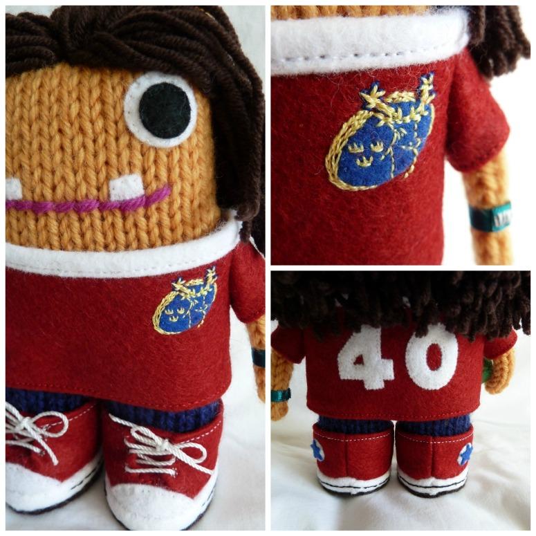 Rugby Girl Beastie's Jersey - CrawCrafts Beasties