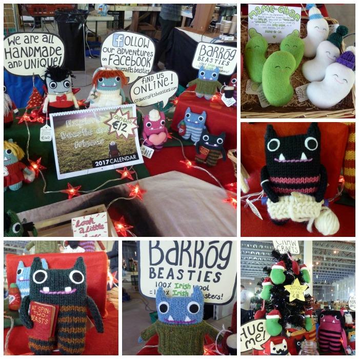 Crawcrafts Beasties at the Dublin Christmas Flea