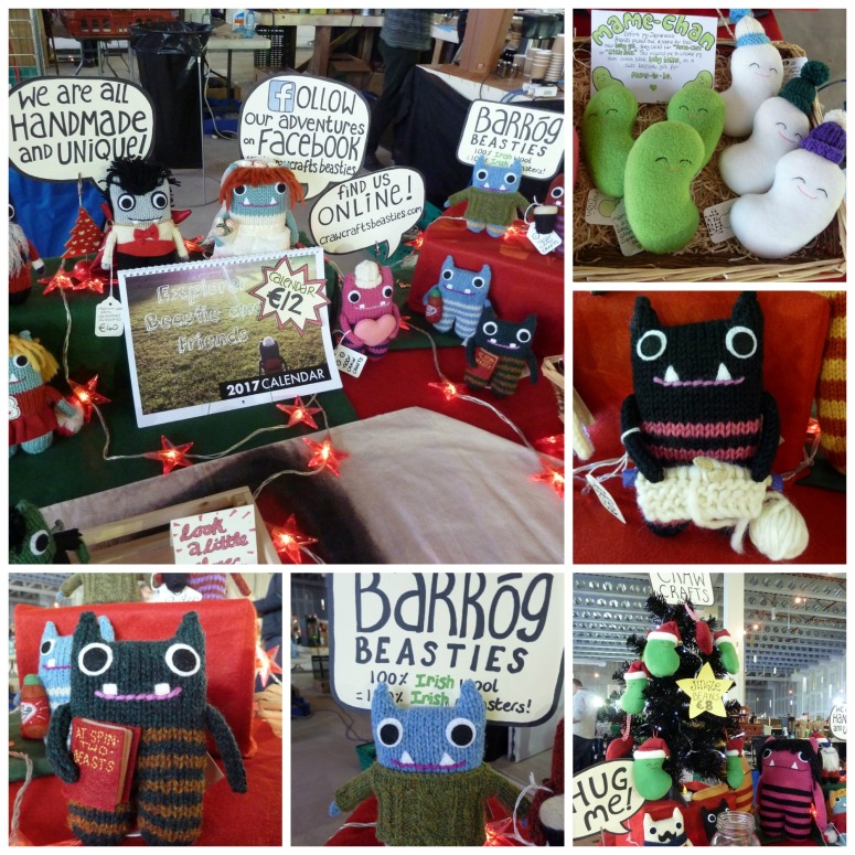 Crawcrafts Beasties at the Dublin Christmas Flea