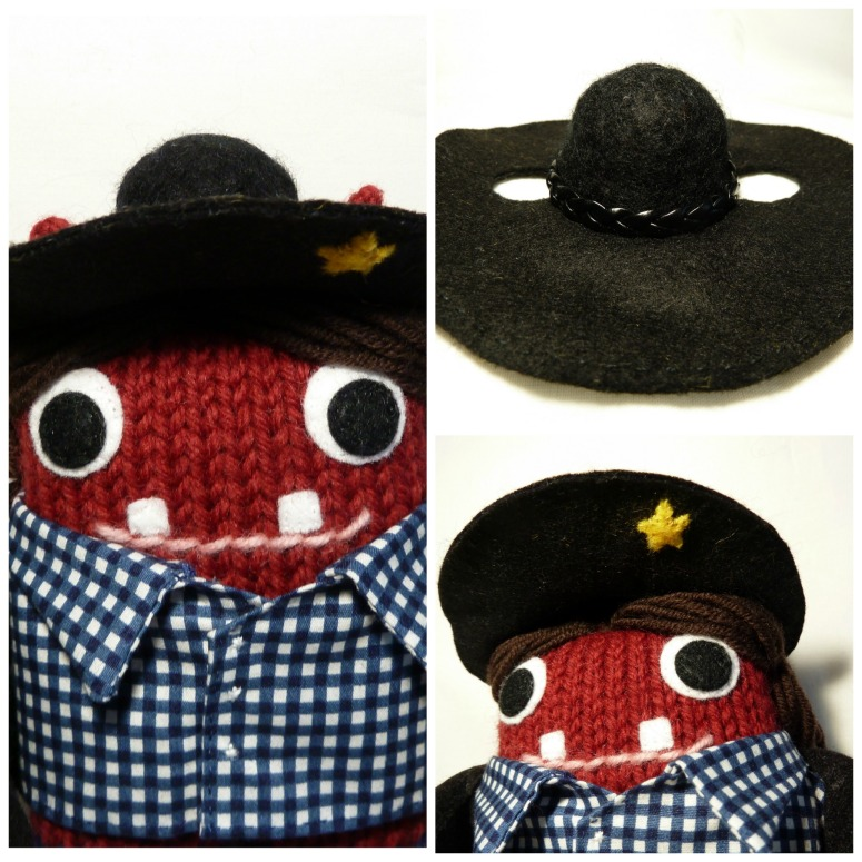 Cowgirl Beastie's Hat, by CrawCrafts Beasties