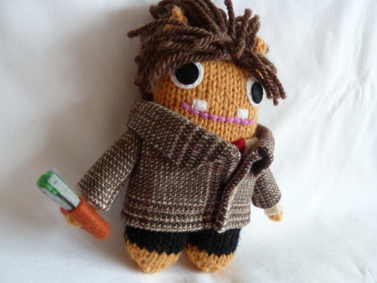 Doctor Who Beastie, With Sonic Screwdriver - CrawCrafts Beasties