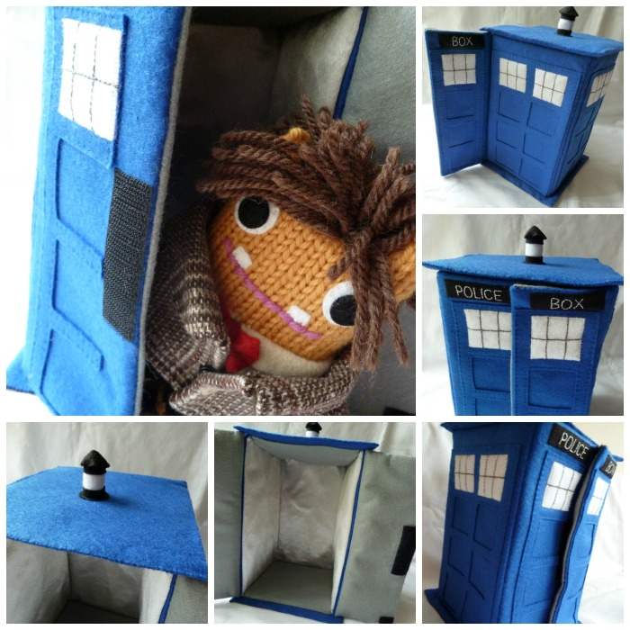 The Tardis, Inside and Out! CrawCrafts Beasties