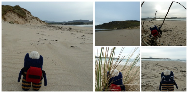 Explorer Beastie at Five Finger Strand - CrawCrafts Beasties