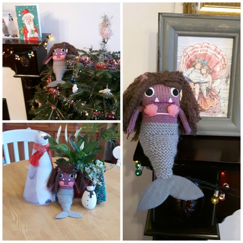 Mermaid Beastie at Home - C Alexander/CrawCrafts Beasties
