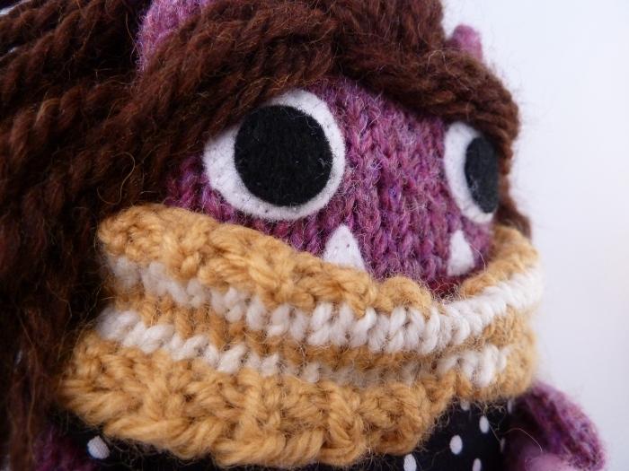 Deirdre Beastie's Stripey Cowl, by CrawCrafts Beasties