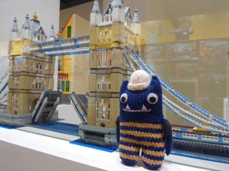 Explorer Beastie Explores the Lego Store - CrawCrafts Beasties