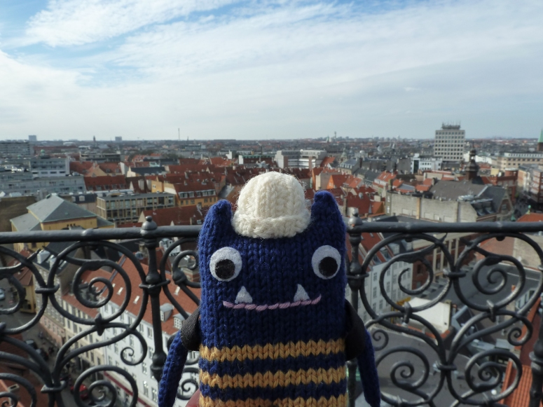 Explorer Beastie in Copenhagen - CrawCrafts Beasties