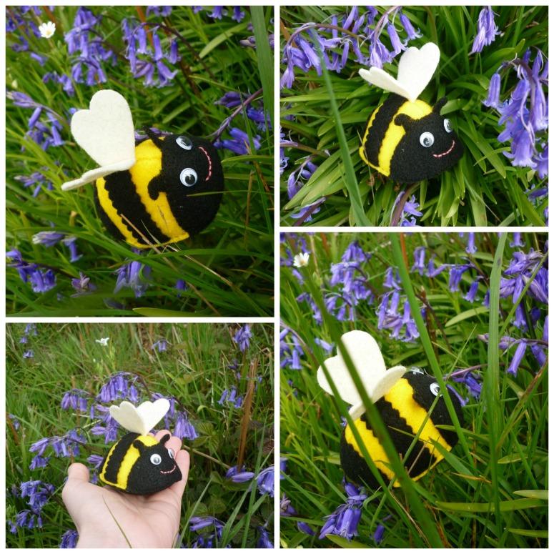 A Little Felt Bee - CrawCrafts Beasties