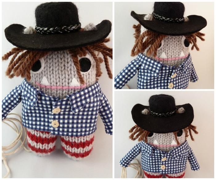 Cowboy Beastie, Ready to Go! CrawCrafts Beasties