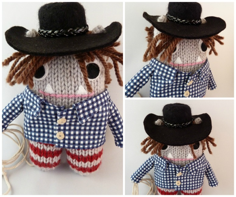 Cowboy Beastie, Ready to Go! CrawCrafts Beasties