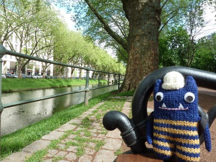 Explorer Beastie in Dusseldorf - CrawCrafts Beasties