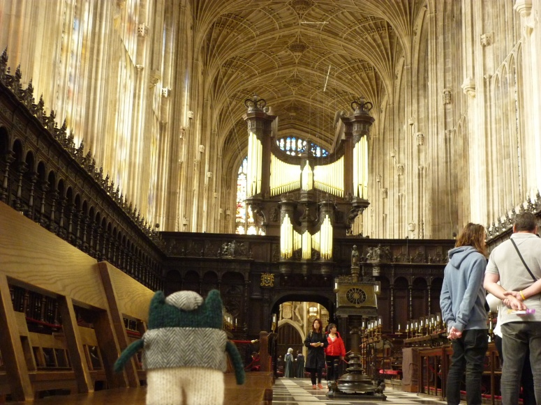 Plunkett Mesmerised by the Ceiling at King's College Chapel - H Crawford/CrawCrafts Beasties