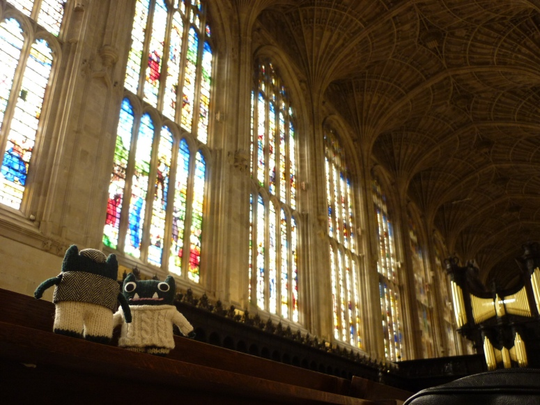 Stained Glass at King's College Chapel - H Crawford/CrawCrafts Beasties