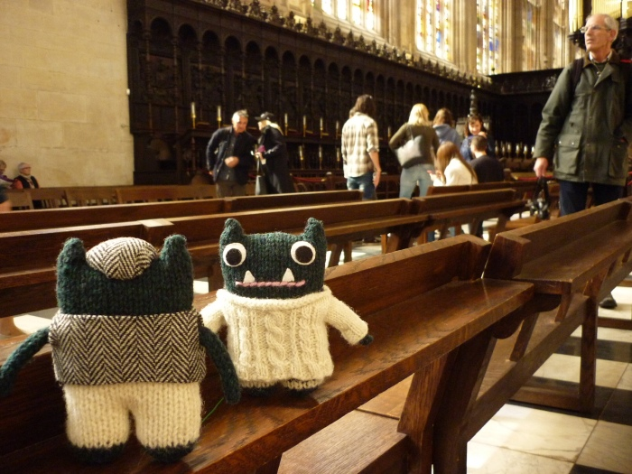Paddy and Plunkett Inside the Chapel - H Crawford/CrawCrafts Beasties