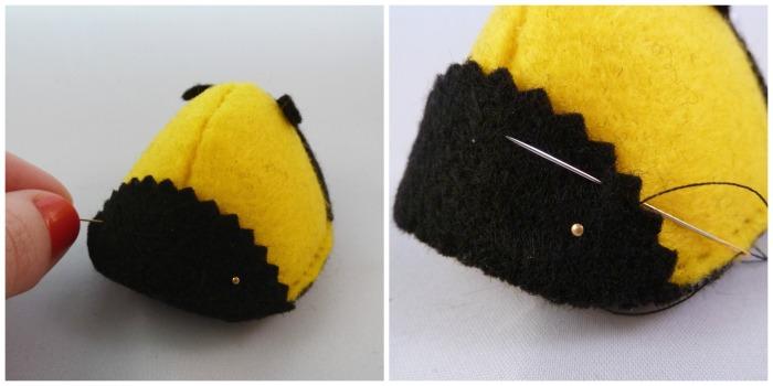 Bee Tutorial Step 10 - CrawCrafts Beasties