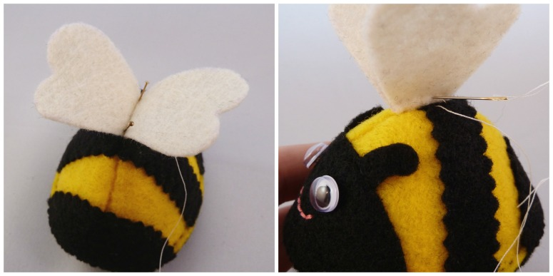 Bee Tutorial Step 13 - CrawCrafts Beasties
