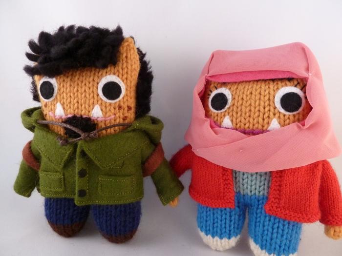 The Happy Beastie Couple - CrawCrafts Beasties