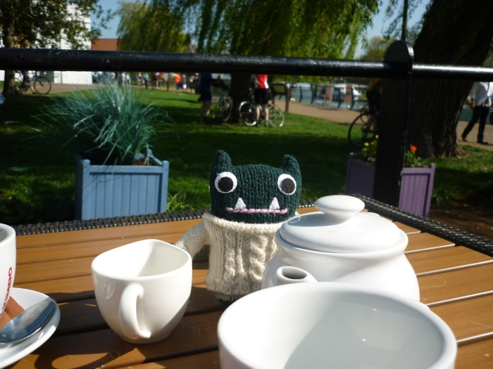 Paddy Enjoys Coffee in the Sunshine - H Crawford/CrawCrafts Beasties