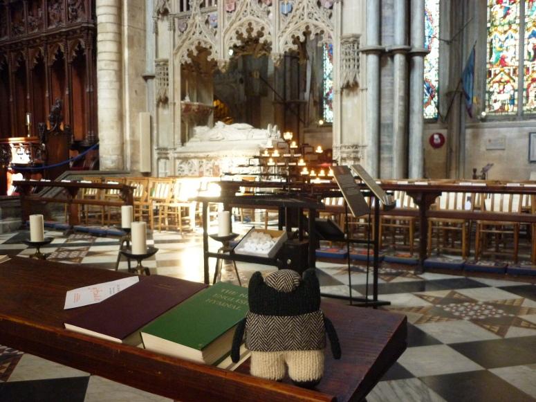 Plunkett Inside Ely Cathedral - H Crawford/CrawCrafts Beasties