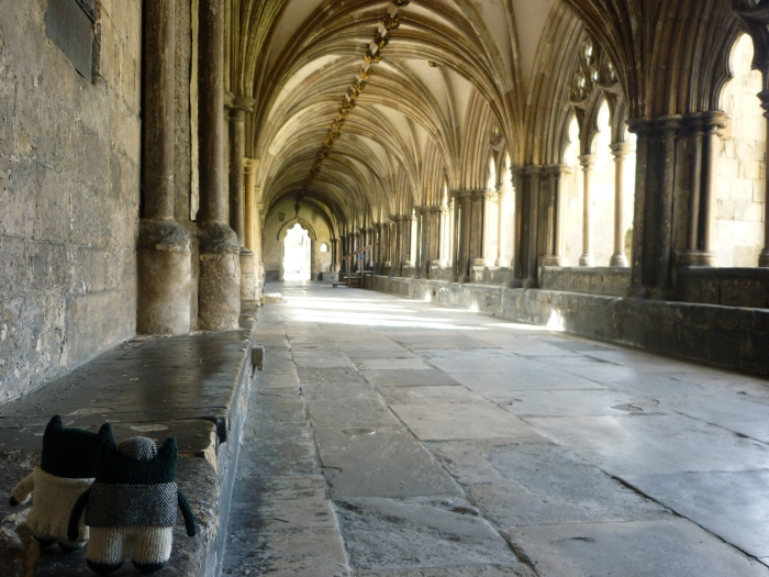 Cathedral Cloisters at Norwich - H Crawford/CrawCrafts Beasties