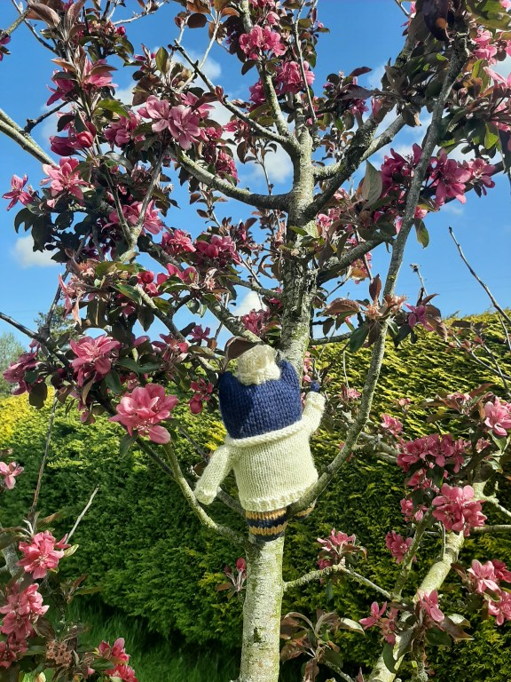 Beastie in an Apple Tree - Irish Countryside - CrawCrafts Beasties