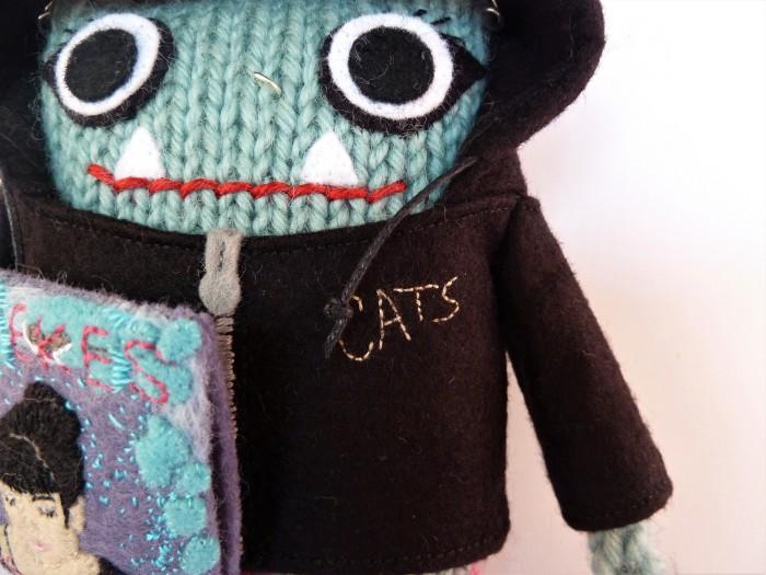 Weekes Beastie Hoodie Details - CrawCrafts Beasties