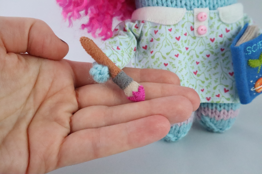 Felt Paintbrush - Sixteenth Birthday Beastie - CrawCrafts Beasties
