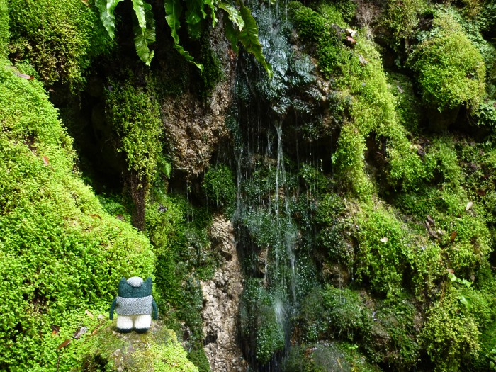 Plunkett Finds a Beastie-Sized Waterfall at Powerscourt - H Crawford/CrawCrafts Beasties
