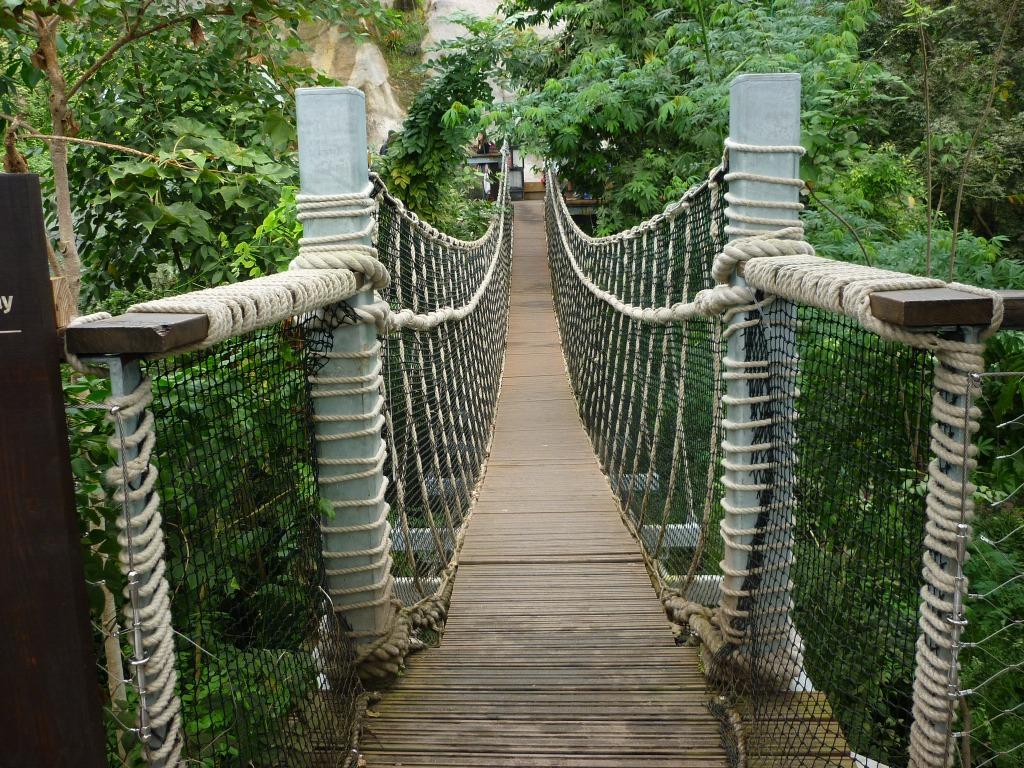 Rope Bridge, Eden Project - H Crawford/CrawCrafts Beasties