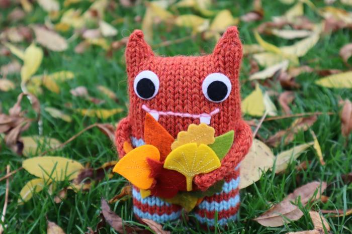Autumn Beastie's Leaf Collection - CrawCrafts Beasties